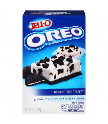 Jell-O No Bake Dessert Oreo Cookies n Crème 12.6oz (357g) Jelly & Puddings Jell-O