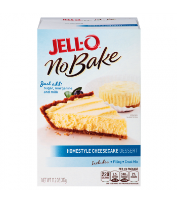 Jell-O No Bake Homestyle Cheesecake Mix 11.2oz (317g) Food and Groceries Jell-O