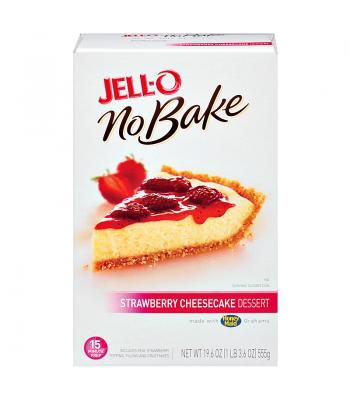 Jell-O - No Bake Strawberry Cheesecake Dessert Mix - 19.6oz (555g) Jelly & Puddings Jell-O