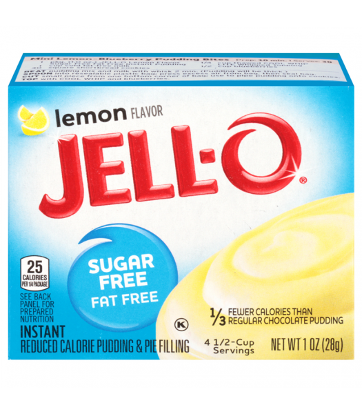 Jell-O - Lemon Instant Pudding - Sugar Free - 1oz (28g) Jelly & Puddings Jell-O