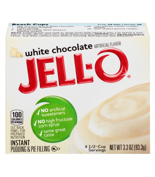 Jell-O - White Chocolate Instant Pudding 3.3oz (93.3g) Food and Groceries Jell-O