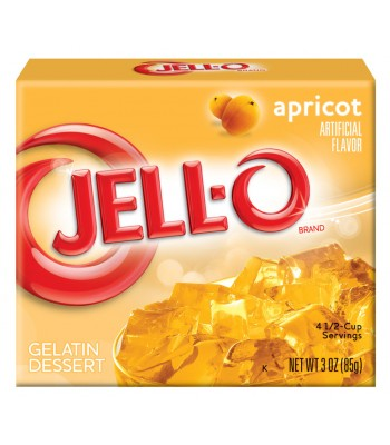 Jell-O Apricot Gelatin 3oz (85g) Jelly & Puddings Jell-O