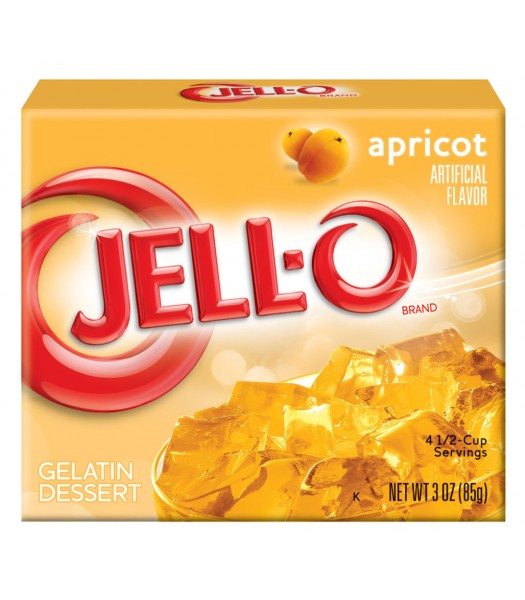 Jell-O - Apricot Gelatin Dessert - 3oz (85g) Jelly & Puddings Jell-O