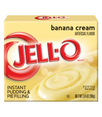 Jell-O Banana Cream Instant Pudding 96g  Jelly & Puddings Jell-O