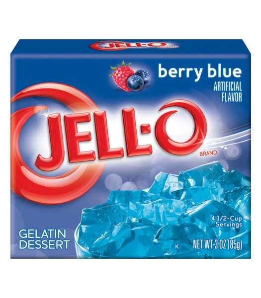 Jell-O Berry Blue Gelatin 3oz (85g) Jelly & Puddings Jell-O