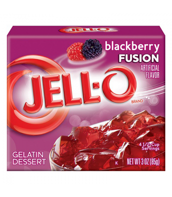 Jell-O Blackberry Fusion 3oz (85g) Jelly & Puddings Jell-O