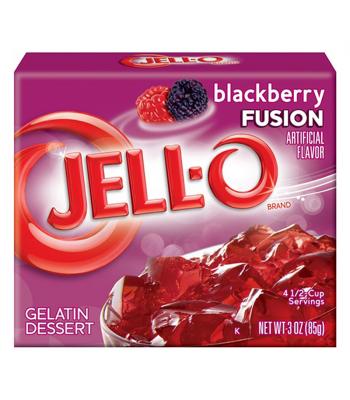 Jell-O Blackberry Fusion 3oz (85g) Jelly & Puddings Jell-O
