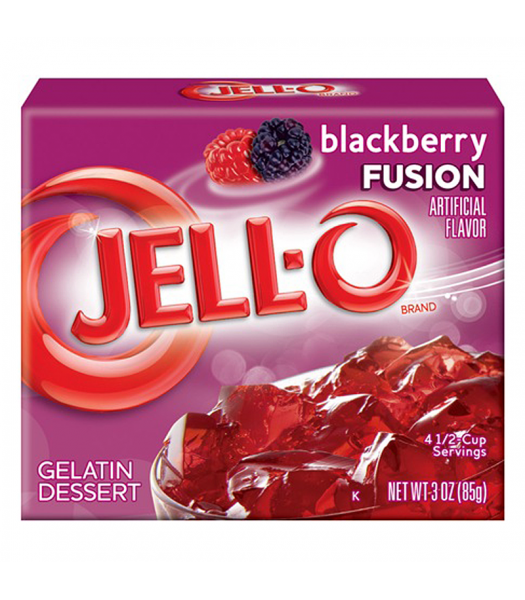 Jell-O - Blackberry Fusion Gelatin Dessert - 3oz (85g) Jelly & Puddings Jell-O