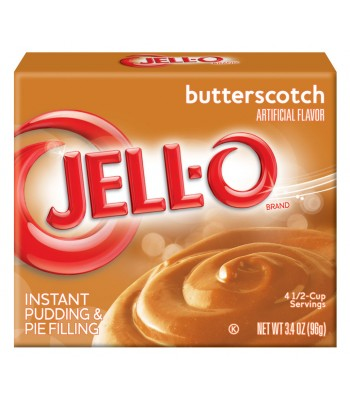 Jell-O - Butterscotch Instant Pudding - 3.5oz (99g) Food and Groceries
