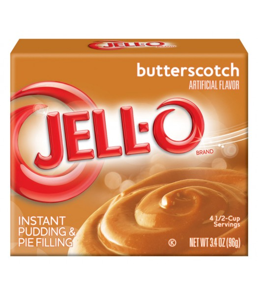 Jell-O - Butterscotch Instant Pudding - 3.5oz (99g) Food and Groceries Jell-O
