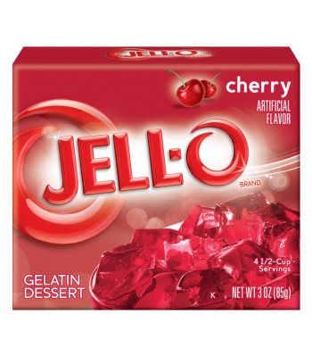 Jell-O Cherry Gelatin 3oz (85g) Jelly & Puddings Jell-O