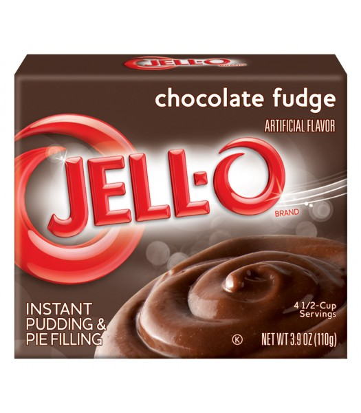 Jell-O - Chocolate Fudge Instant Pudding - 3.9oz (110g) Jelly & Puddings Jell-O