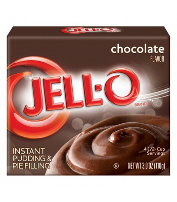 Jell-O Chocolate Fudge Pudding 3.9oz (110g) Jelly & Puddings Jell-O