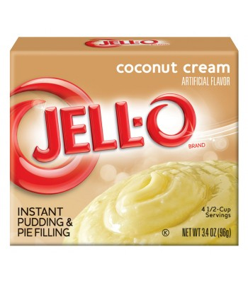 Jell-O - Coconut Cream Instant Pudding - 3.4oz (96g) Jelly & Puddings Jell-O