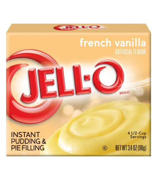 Jell-O - French Vanilla Instant Pudding - 3.4oz (96g) Jelly & Puddings Jell-O