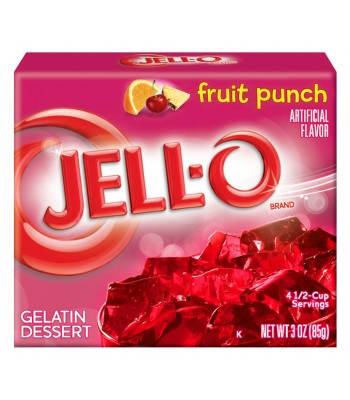 Jell-O Fruit Punch 3oz (85g) Jelly & Puddings Jell-O