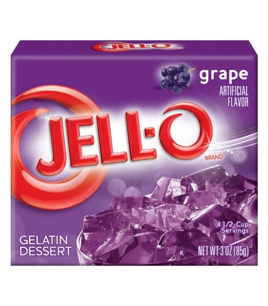 Jell-O - Grape Gelatin Dessert - 3oz (85g) Jelly & Puddings Jell-O