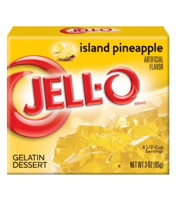 Jell-O Island Pineapple Gelatin 3oz (85g) Jelly & Puddings Jell-O