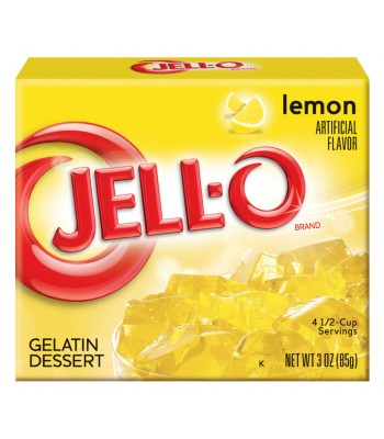 Jell-O - Lemon Gelatin Dessert - 3oz (85g) Jelly & Puddings Jell-O