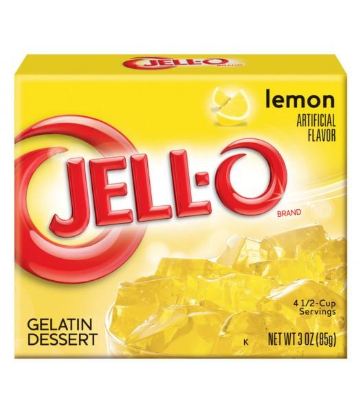 Jell-O - Lemon Gelatin Dessert - 3oz (85g) Jelly & Puddings Jell-O