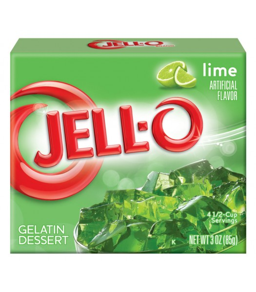Jell-O - Lime Gelatin Dessert - 3oz (85g) Jelly & Puddings Jell-O