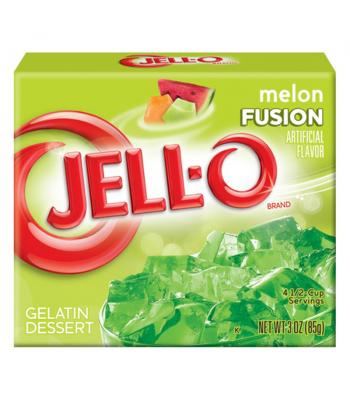 Jell-O - Melon Fusion Gelatin Dessert - 3oz (85g) Jelly & Puddings Jell-O