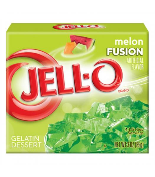 Jell-O Melon Fusion 3oz (85g) Jelly & Puddings Jell-O