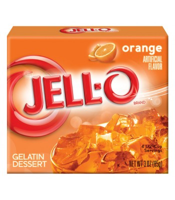 Jell-O Orange Gelatin 3oz (85g) Jelly & Puddings Jell-O