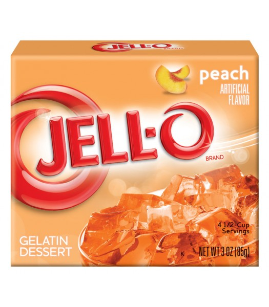Jell-O - Peach Gelatin Dessert - 3oz (85g) Jelly & Puddings Jell-O
