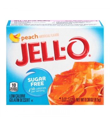 Jell-O - Peach Gelatin Dessert - Sugar Free - 0.3oz (8.5g) Food and Groceries Jell-O