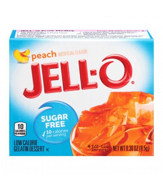 Jell-O - Peach Gelatin Dessert - Sugar Free - 0.3oz (8.5g) Food and Groceries Jell-O