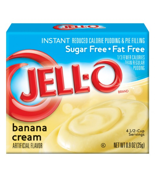 Jell-O - Banana Cream Instant Pudding - Sugar Free - 0.9oz (25g) Jelly & Puddings Jell-O