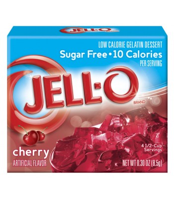 Jell-O Sugar Free Cherry Gelatin 8.5g Jelly & Puddings Jell-O