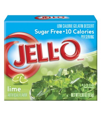 Jell-O - Lime Gelatin Dessert - Sugar Free - 0.3oz (8.5g) Jelly & Puddings Jell-O