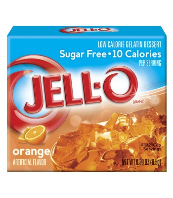 Jell-O - Orange Gelatin Dessert - Sugar Free - 0.3oz (8.5g) Food and Groceries Jell-O
