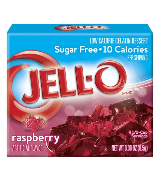 Jell-O Sugar Free Raspberry Gelatin 8.5g Jelly & Puddings Jell-O