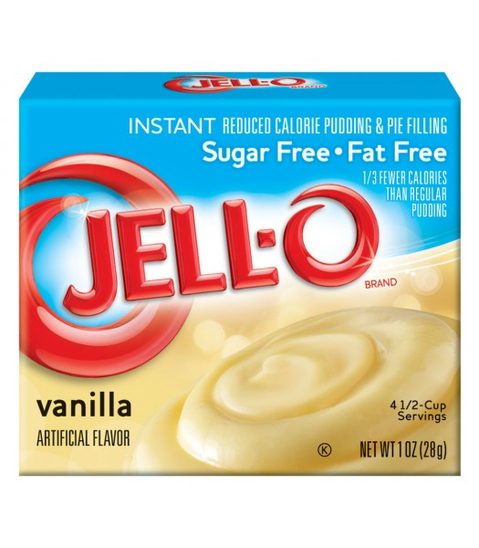 Jell-O - Vanilla Instant Pudding - Sugar Free - 1oz (28g) Food and Groceries Jell-O