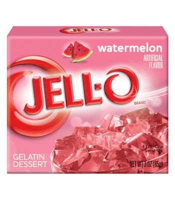 Jell-O Watermelon Gelatin 3oz (85g) Jelly & Puddings Jell-O