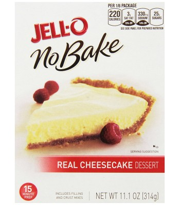 Jell-O No Bake Real Cheesecake Dessert Mix - 11.1oz (314g) Food and Groceries
