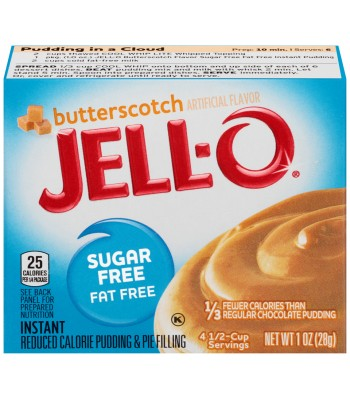 Jell-O - Butterscotch Instant Pudding - Sugar Free - 1oz (28g) Jelly & Puddings Jell-O