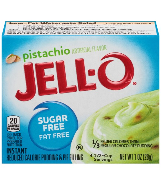 Jell-O - Pistachio Instant Pudding - Sugar Free - 1oz (28g) Jelly & Puddings Jell-O