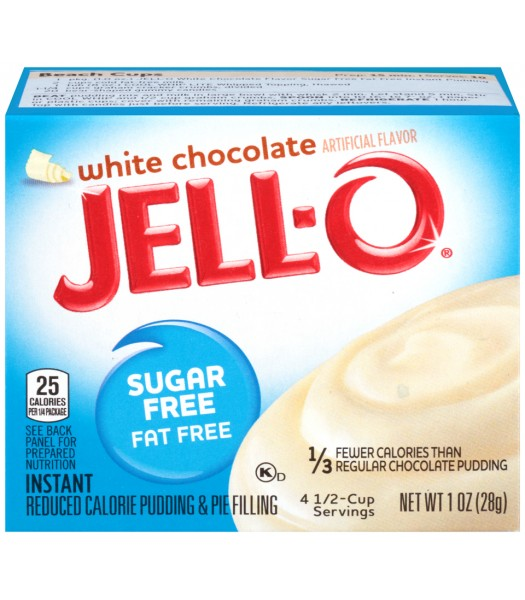 Jell-O Sugar Free White Chocolate 1oz (28g) Jelly & Puddings Jell-O