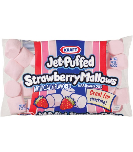 Jet Puffed Strawberry Marshmallow Bites 8oz (226g)