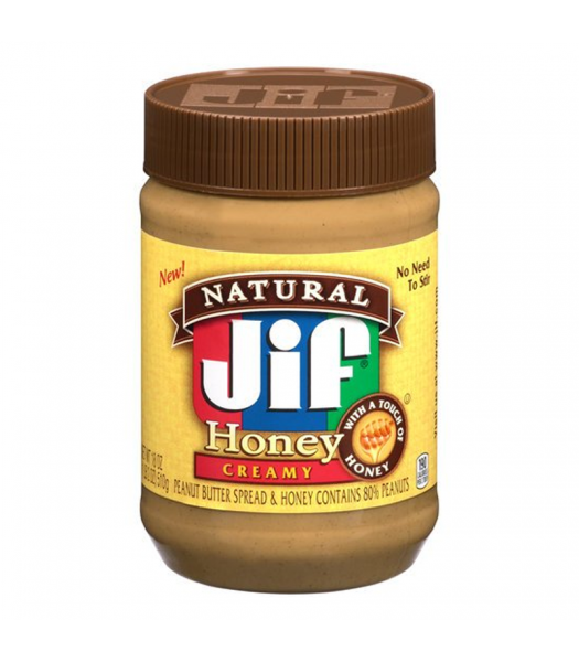 Jif Natural Honey Creamy Peanut Butter - 16oz (454g) Food and Groceries Jif