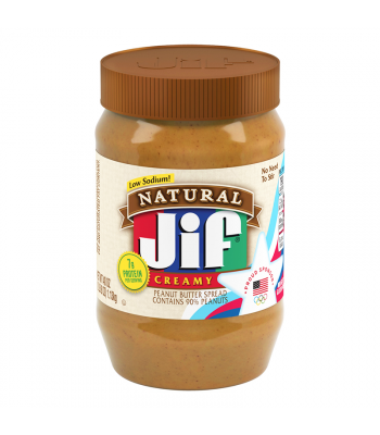 Jif Natural Creamy Peanut Butter - 16oz (454g) Food and Groceries Jif