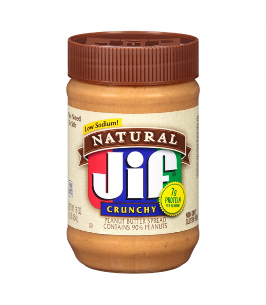 Jif Natural Crunchy Peanut Butter - 16oz (454g) Food and Groceries Jif