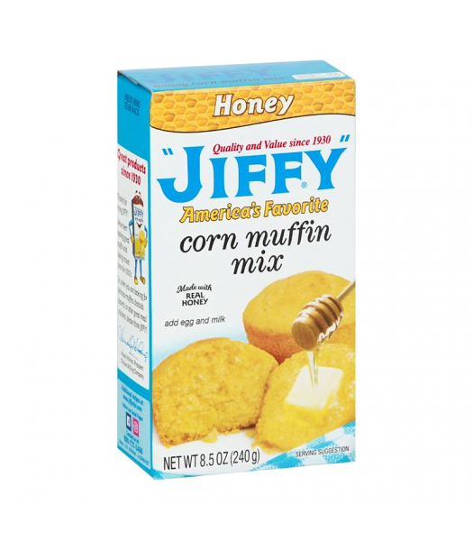 Jiffy Honey Corn Muffin Mix - 8.5oz (240g) Food and Groceries Jiffy
