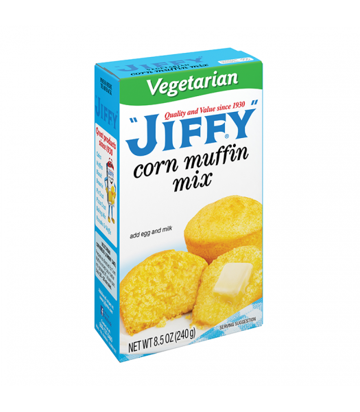 Jiffy Vegetarian Corn Muffin Mix - 8.5oz (240g) Food and Groceries Jiffy