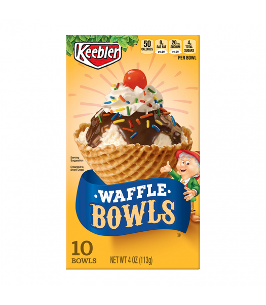Keebler Waffle Cone Bowls - 4oz (113g) Food and Groceries Keebler