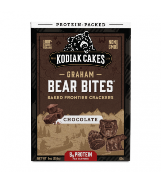 Kodiak Cakes Graham Bear Bites Chocolate Baked Crackers  - 9oz (255g) Snacks and Chips Kodiak Cakes